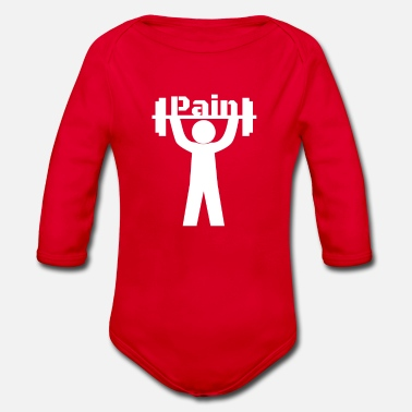 No Pain No Pain - Organic Long-Sleeved Baby Bodysuit