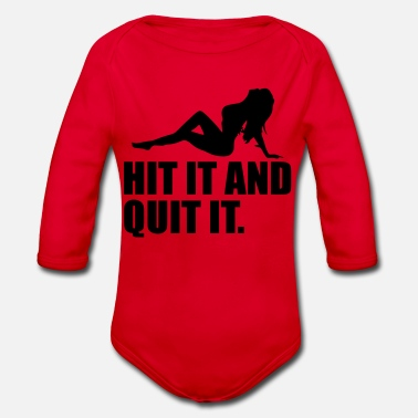Hits hit and quit - Organic Long-Sleeved Baby Bodysuit