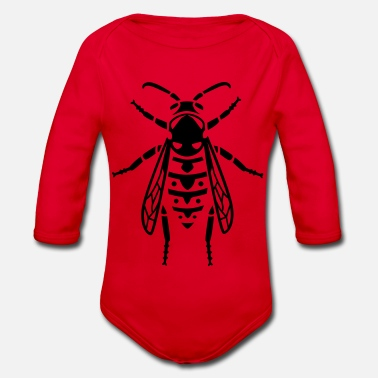 Wasp Insect - wasp - Organic Long-Sleeved Baby Bodysuit