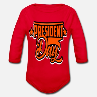 President Day Of The President- President's Day - Organic Long-Sleeved Baby Bodysuit