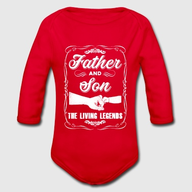 father and son - Organic Longsleeve Baby Bodysuit
