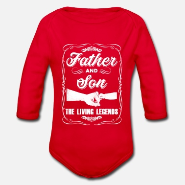 Friend father and son - Organic Longsleeve Baby Bodysuit