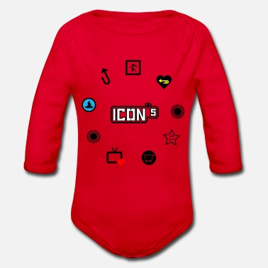 Icon icons - Organic Long-Sleeved Baby Bodysuit
