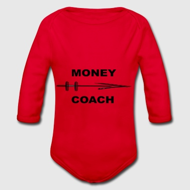 Money Coach Empire Laws of the Rich Gift - Organic Longsleeve Baby Bodysuit