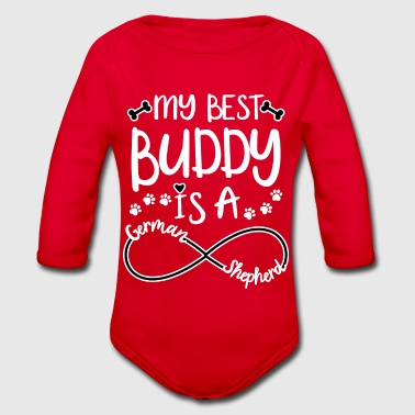 German shepherd - german shepherd best friend - Organic Longsleeve Baby Bodysuit