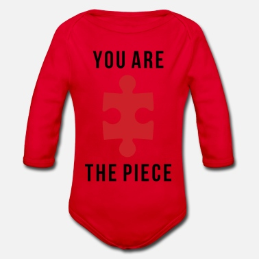 Piece YOU ARE THE PIECE - Organic Long-Sleeved Baby Bodysuit