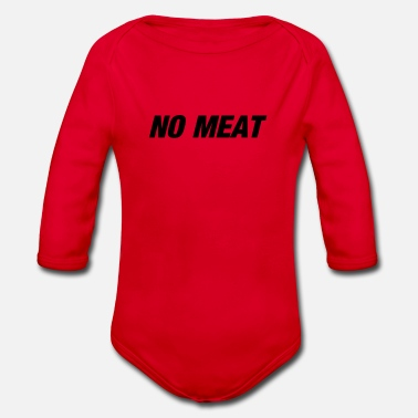 Meat no meat - Organic Long-Sleeved Baby Bodysuit