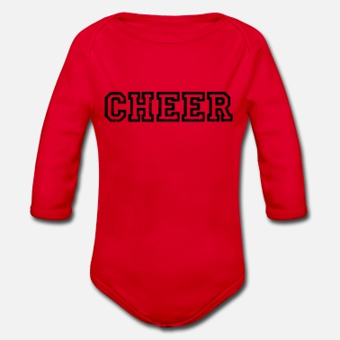 Cheerful Cheer cheers cheers applaud cheers cheer - Organic Long-Sleeved Baby Bodysuit