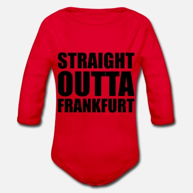 Handkaes Straight Outta Frankfurt - Organic Long-Sleeved Baby Bodysuit