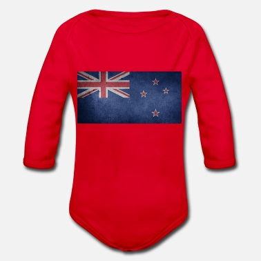 Kiwi Cool New Zealand banner for every Kiwifan - Organic Longsleeve Baby Bodysuit