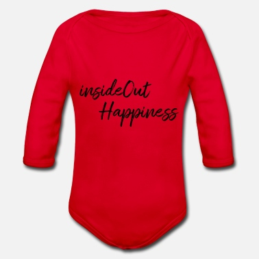 Happiness InsideOut Happiness - Økologisk langermet baby-body