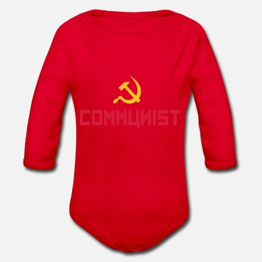 Cccp Communist with hammer and sickle - Baby Bio Langarmbody