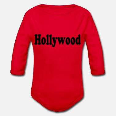 Hollywood hollywood - Ekologisk långärmad babybody