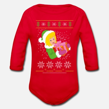Bibi Blocksberg Ugly Sweater Design - Baby Bio Langarmbody