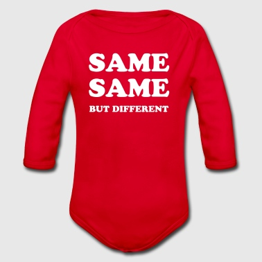 SAME SAME BUT DIFFERENT - Organic Longsleeve Baby Bodysuit