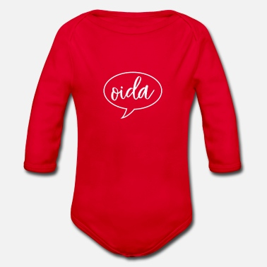 Dialect Oida Austria dialect dialect - Organic Long-Sleeved Baby Bodysuit