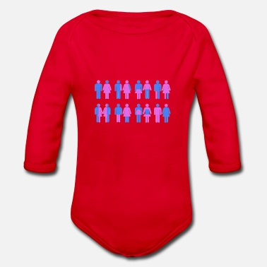 Trans Gender More Than Two Genders - Organic Longsleeve Baby Bodysuit