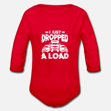 Truck Driver truck driver - Organic Long-Sleeved Baby Bodysuit