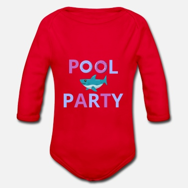 Pool Pool Party Pool Outdoor Pool - Organic Long-Sleeved Baby Bodysuit