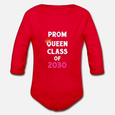 Prom Queen Class of 2030 Future Graduates - Organic Long-Sleeved Baby Bodysuit