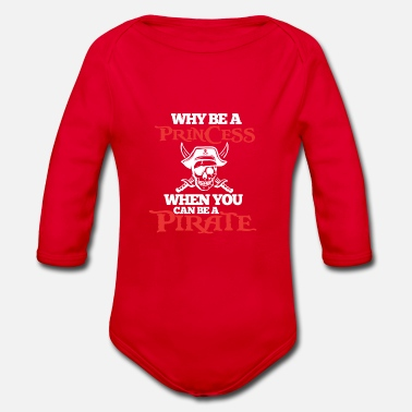 Pirate Pirate Pirate - Organic Long-Sleeved Baby Bodysuit