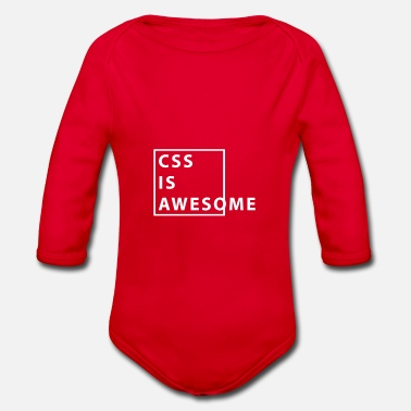 Css CSS is Awesome - Organic Longsleeve Baby Bodysuit