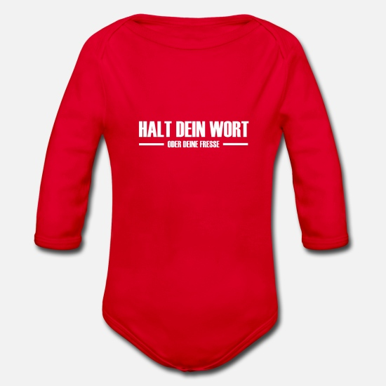 Gift Idea Baby Clothes - cool saying - Organic Long-Sleeved Baby Bodysuit red