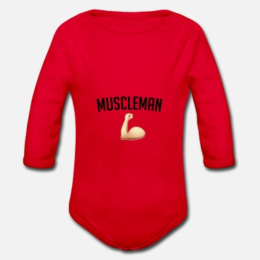 Muscleman Muscleman gift - Organic Long-Sleeved Baby Bodysuit