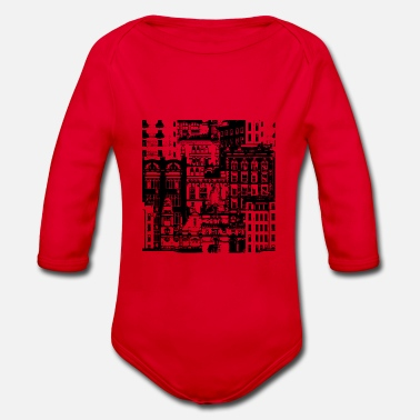 City City City - Organic Long-Sleeved Baby Bodysuit