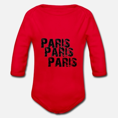 Love Paris - Baby Bio Langarmbody