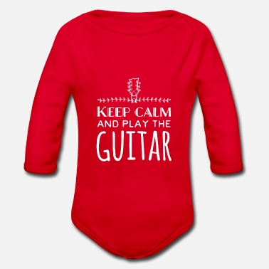 Keep calm and play the guitar - Organic Long-Sleeved Baby Bodysuit