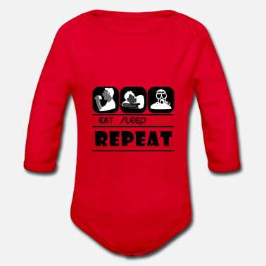 eat sleep dive repeat - Baby Bio Langarmbody