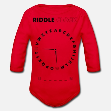 Riddle Clock Unicorn - Baby Bio Langarmbody