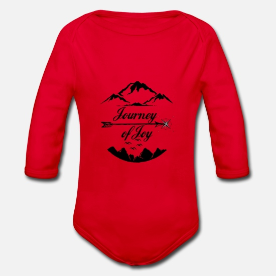 Travel Baby Clothes - Journey of Joy - Organic Long-Sleeved Baby Bodysuit red