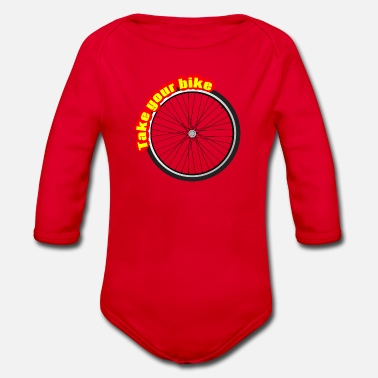 Take Take The Bike, Take the Wheel - Organic Longsleeve Baby Bodysuit