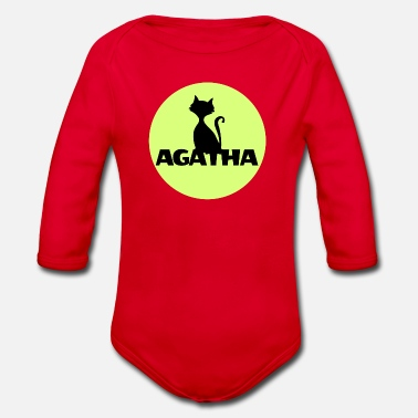 Name Day Agatha Name First name Name Motif name day - Organic Longsleeve Baby Bodysuit