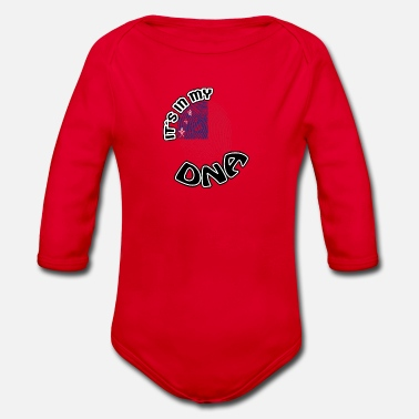 Gift Its in my dna dns roots Samoa - Organic Long-Sleeved Baby Bodysuit