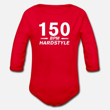 Bpm Hardstyle 150 BPM - Organic Long-Sleeved Baby Bodysuit