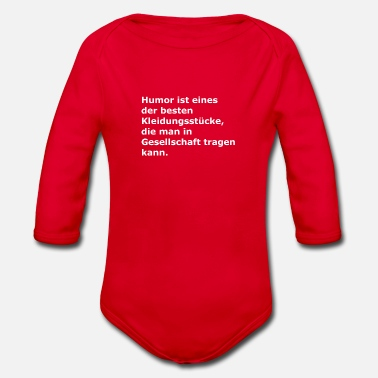 Best One Humor is one of the best garments - Organic Long-Sleeved Baby Bodysuit