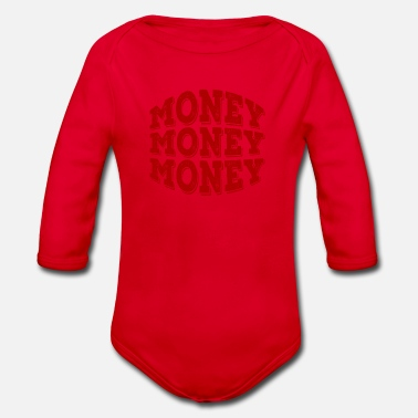Money Money money money - Organic Long-Sleeved Baby Bodysuit