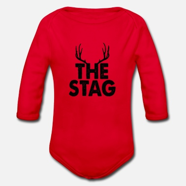 Stag The Stag - Organic Long-Sleeved Baby Bodysuit