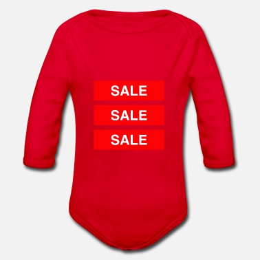 Sale Sale Sale Sale - Coloured - Organic Long-Sleeved Baby Bodysuit
