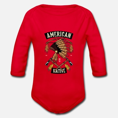 Native Love Native American native apache cherokee - Organic Long-Sleeved Baby Bodysuit