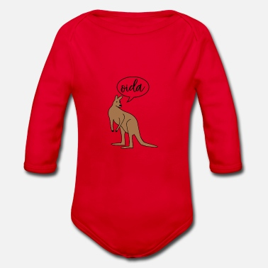 Dialect Oida Austria dialect dialect - Organic Longsleeve Baby Bodysuit