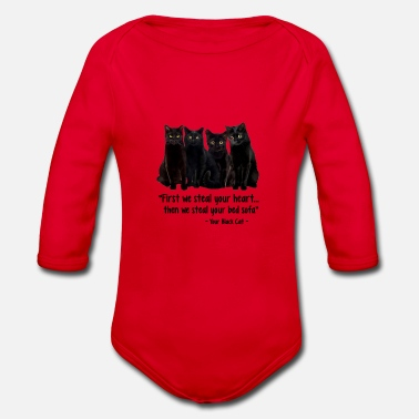 Steal First, we steal your heart, then we steal - Organic Long-Sleeved Baby Bodysuit