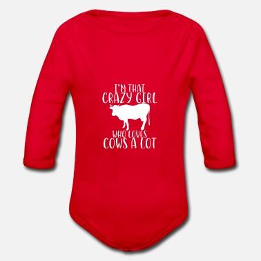 30385ad86 Cow Animal Cows Farm Gift · Crazy Økologisk kortermet baby-body - svart
