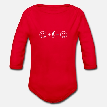 Problem Solved Golf Shirt · Golf makes you happy · Gift - Organic Long-Sleeved Baby Bodysuit