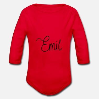 Nickname Emil - Organic Long-Sleeved Baby Bodysuit