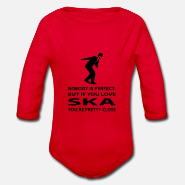 Ska perfect ska, ska music is perfection - Organic Long-Sleeved Baby Bodysuit