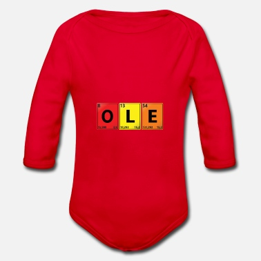 Ole - your name in chemistry look - Organic Long-Sleeved Baby Bodysuit